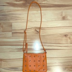 Orange studded Crossbody